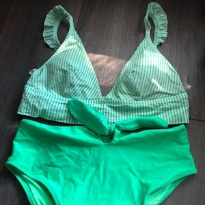Aerie High Waisted Bikini Set